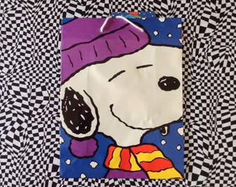 Snoopy~Gift Bag~Peanuts~Christmas~Vintage