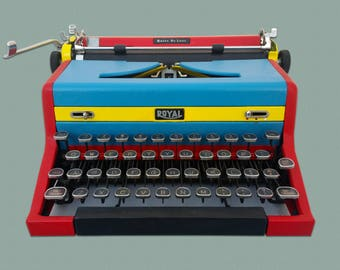 Royal Quiet Deluxe Typewriter (Custom Paint)
