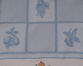 Embroidered Tea towel hand fruit