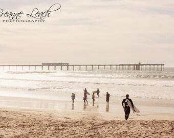 "Photography ""Always Summer"", San Diego, Ocean Beach, Pier, Beach, Wall Art, Home Decor, Ocean, Southern California Beach, OB Pier Surf"