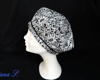 Basque Hat black & silver rope size L