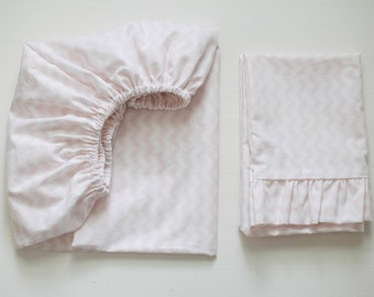 Cotton fitted sheet for a baby mini crib - baby shower gift - baby bedding - baby mini crib sheet