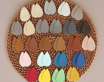 CLEARANCE earrings, leather earrings