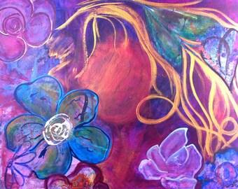 Blooming - Acrylic Painting Wall Art
