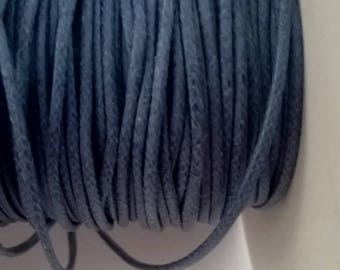Cotton cord coated blue jean 1 mm