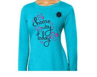 Choose Joy today  SVG dfx Cut file  Cricut, Christian svg, Jesus svg Commercial license, Scripture svg, woman's Christian t shirt