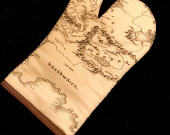 The Hobbit Middle Earth Map Oven Mitt