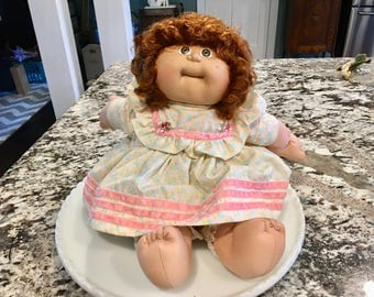 1985 Cabbage Patch Doll 165A//Made for Coleco Industries, Inc.//Vintage Childrens Doll