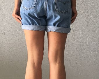 Vintage Levi's Denim High Waisted 1980's Boyfriend Shorts