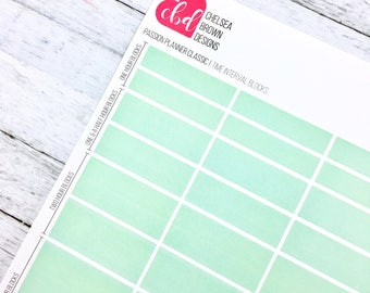 Full Color Time Interval Block Planner Stickers | Passion Planner Stickers for the Classic and Compact Size