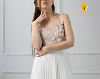 Elegant Maxi Handmade Dress by TAVROVSKA, Long Evening Dress, Bridesmade, Wedding Dress