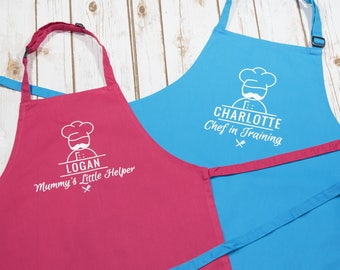 Child's Personalised Apron - Kids Apron - Personalised Apron - Baking Outfit - Birthday Idea - Head Chef - Baking Apron - Baking Play
