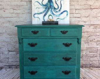 SOLD SOLD ** Hand painted Vintage Dresser