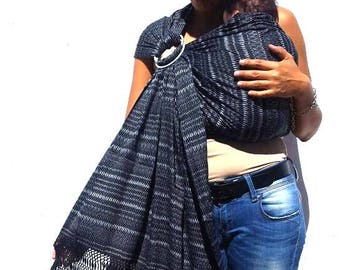 Light weight 100% cotton, mexican rebozo, baby carrier, sling, w/ user's guide