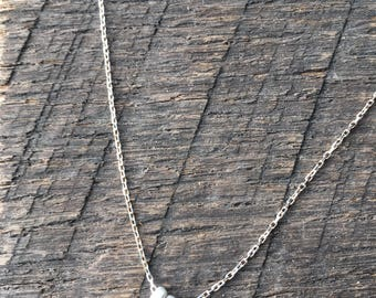 "Sterling silver ""seeds of hope"" delicate necklace"