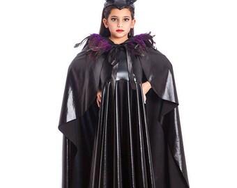 Maleficent Costume , Halloween Costumes, Kids Costumes, Girls Halloween Costume, Girls Costumes, Girls Toddler Costume.