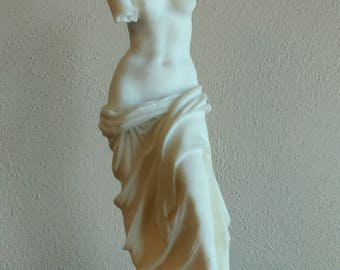 Marble Statue of Greek Goddess Aphrodite - White Elegant Roman Statue of Venus