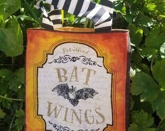 "Halloween Treat Bag ""Bat Wings"""