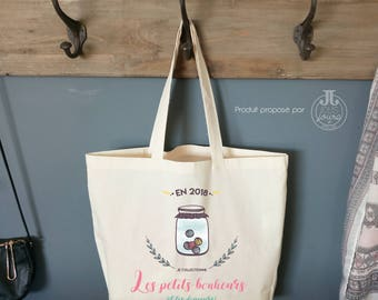 Cotton Tote Bag XL Tote bag for her • • Tote bag-cute
