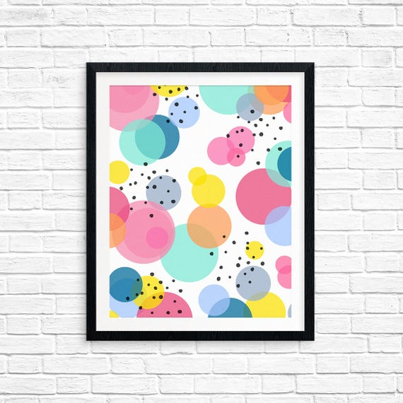 Printable Art, Circles, Multi Colored, Pattern, Modern Art, Minimalist Art, Art Printable, Home Decor, Digital Download Print