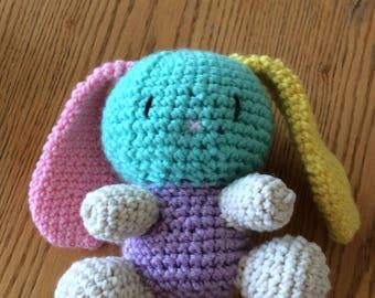 Stuffed amigurumi bunny