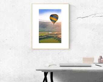 Hot Air Balloon | Napa | California | Wine Country | Color Photography | Mountains | NorCal | Outdoors | Outdoor Photography | Sunrise