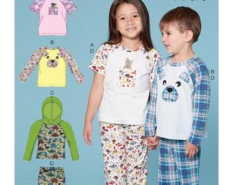 Sewing Pattern for Children's/Boys'/Girls' Animal Themed Sleepwear, McCall's Pattern 7678, New Pattern, Boys Pajamas, Girls Pajamas