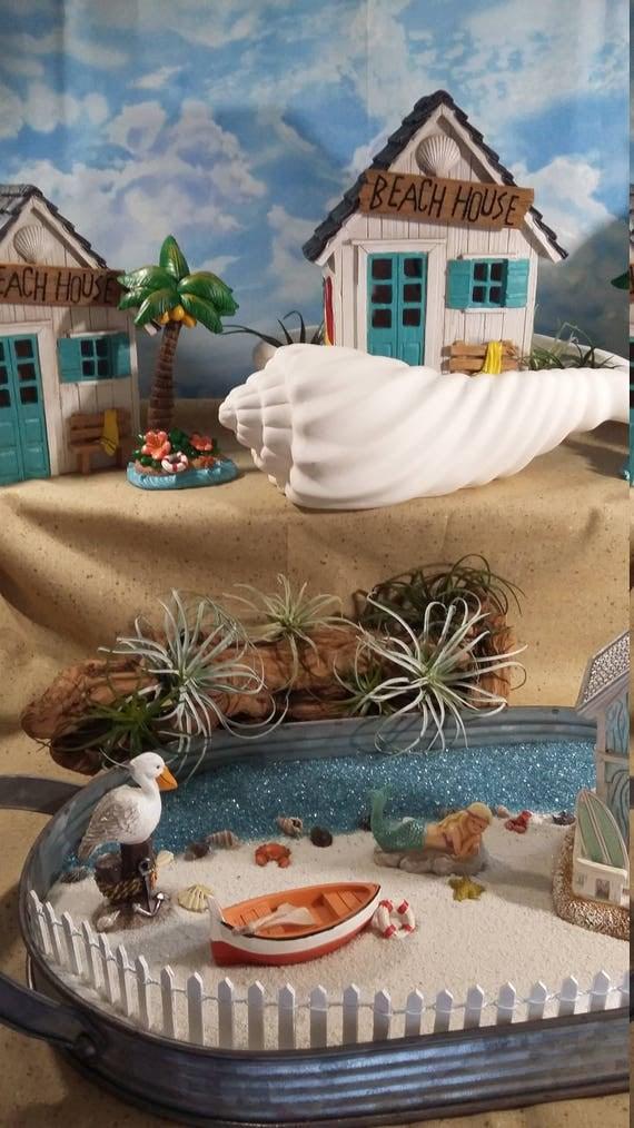 Fairy Garden Beach Palm Tree, Beach Themed Fairy Palm Tree For Miniature  Gardening, Seaside Cottage, Summer Fairy Garden, Beach Themed Decor From ...