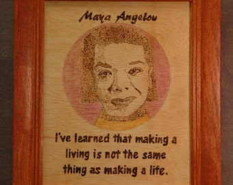Maya Angelou - portrait and quote