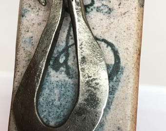Wrought iron bookmark, one flat loop  pattern