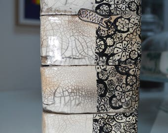 hand-painted ceramic bento