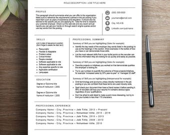Creative one page resume template / cv template | Functional resume, modern resume, professional resume, curriculum vitae, cv