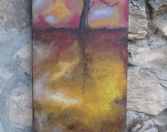 Life Tree, Autumn, Acrylic Paint