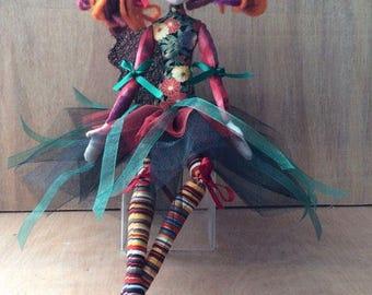 "JX915E – Sweetpea - 14"" Cloth Doll PDF  Sewing Pattern"
