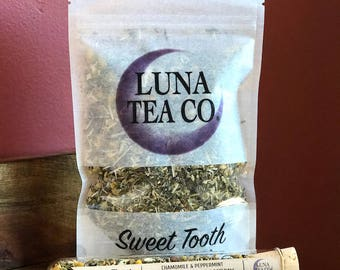 Sweet Tooth // Organic Herbal Tea Blend  // Loose Leaf Tea // Caffeine Free Tea // Zip Pouch Tea or Test Tube Tea