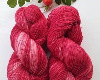 Hand dyed merino silk mix 100g