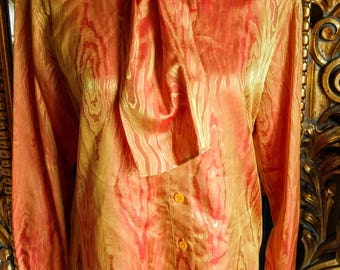 Vintage Escada Designer Moire Silk Blouse With Tags!