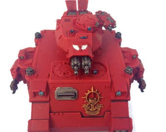 Warhammer 40k, Baal Predator, Blood Angels, Commissioned Painting Services, Table Top Standards