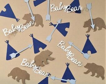 Confetti - baby bear, teepee, arrow