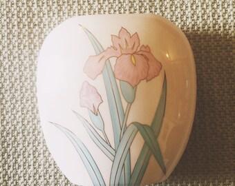 Yamaji Japan Pink Pillow Vase with Floral Pattern