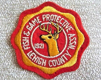 Lehigh County PA Fish + Game Protective Association  **  Vintage Pennsylvania Patch
