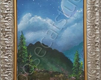 Framed Landscape Oil Painting