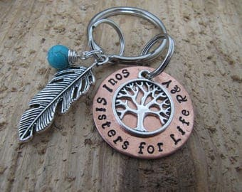 Soul Sisters key chain, hand stamped key chain, Soul Sisters for life,  Bridesmaid gift, Best friend gift, jewelry, BFF gift,gift for friend