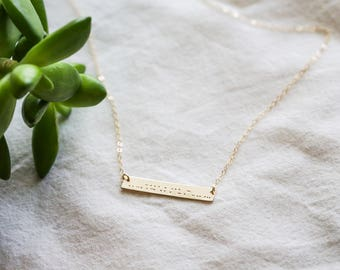 Best Friend Morse Code Necklace - Morse Code Necklace - Friend Morse Code - Morse Code Jewelry - Gift for Her - Secret Message Necklace