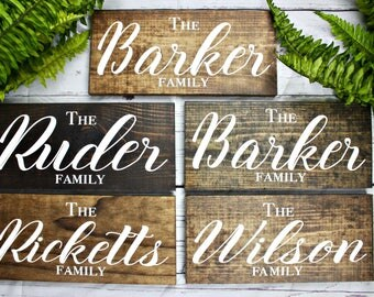 Personalized Wood Signs. Family Name Sign. Last Name Sign. Custom Name Sign. Family Established Sign. Personalized Sign. Custom Wedding Gift