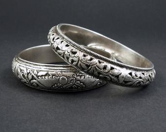Vintage Chinese Silver Bracelets