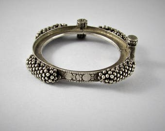Rajasthani silver bracelet, Ethnic bracelet, Rasthani jewelry, engraved bracelet