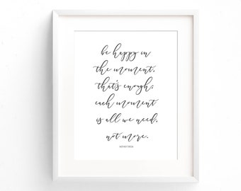 Mother Teresa Quote - Be Happy Print - Inspirational Art Print - Typography Print - Minimal Print - Gifts Under 20 - Art Print - Home Decor