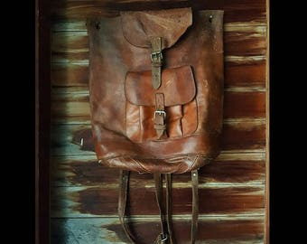 1960s Leather Backpack