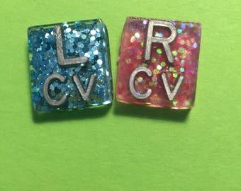 Mini Square Glitter Xray Markers